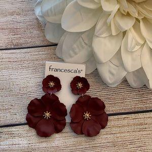 Francesca's floral drop earrings